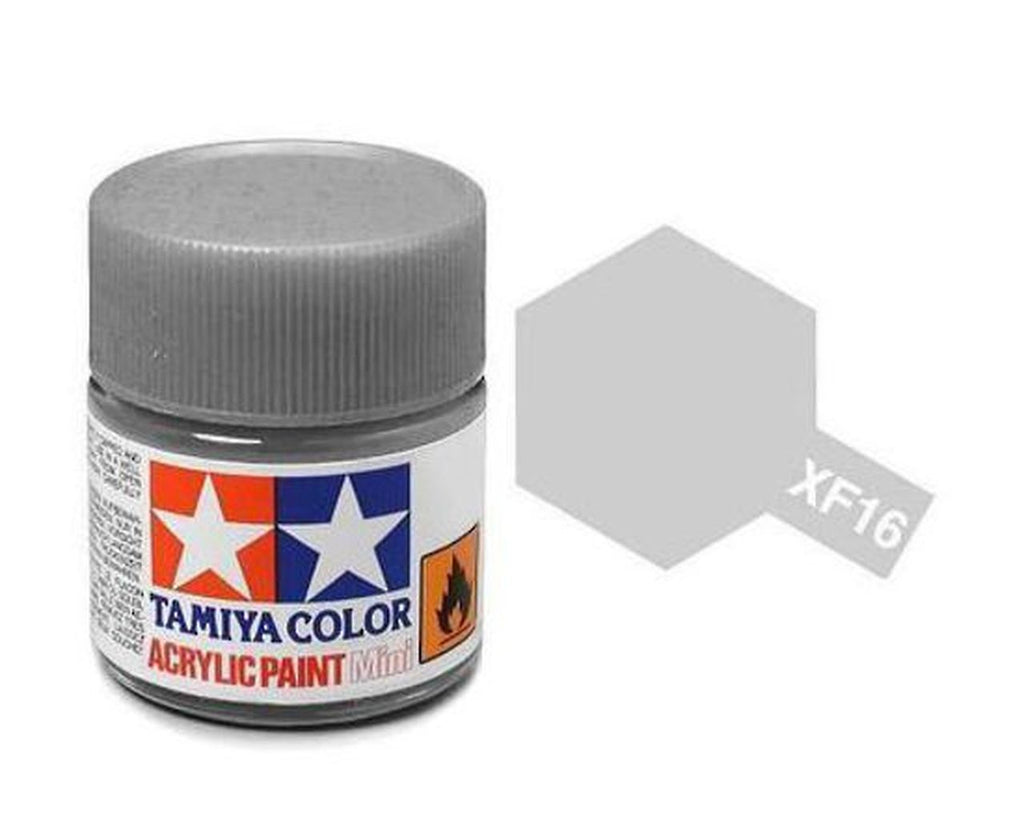 Tamiya XF-16 Flat Aluminum Acrylic Paint Mini 10ml (1/3oz) TAM81716