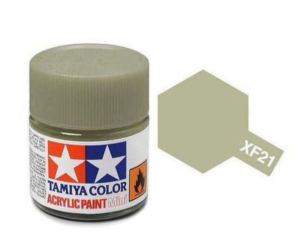 Tamiya XF-21 Flat Sky Acrylic Paint Mini 10ml (1/3oz) TAM81721