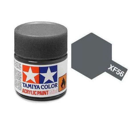 Tamiya XF-56 Flat Metallic Grey Acrylic Paint Mini 10ml (1/3oz) TAM81756