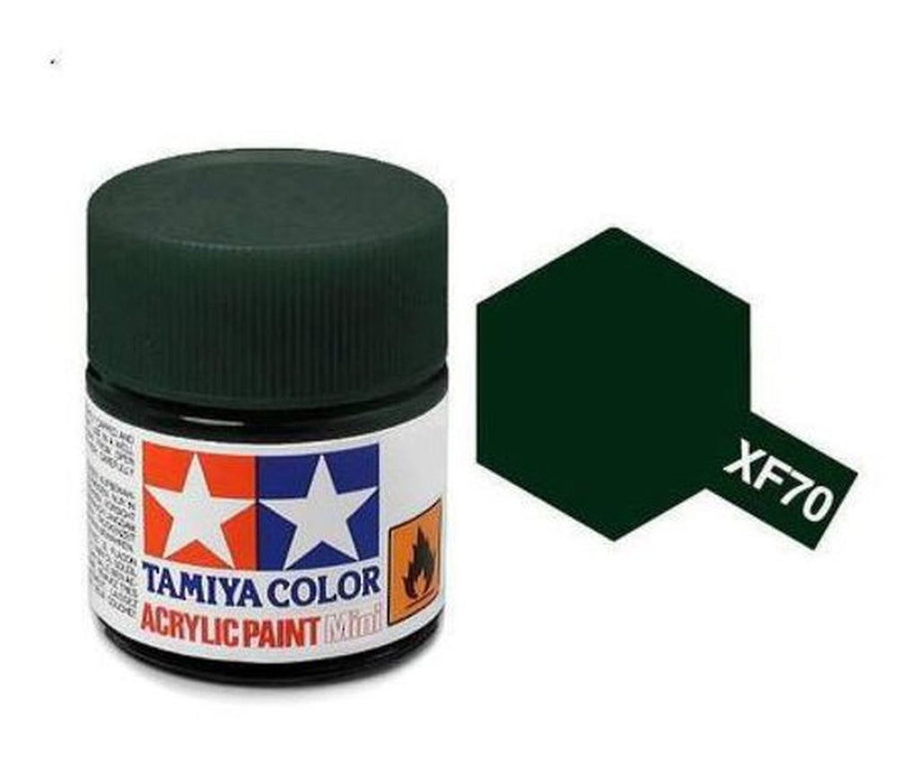 Tamiya XF-70 Flat Dark Green 2 Acrylic Paint Mini 10ml (1/3oz) TAM81770