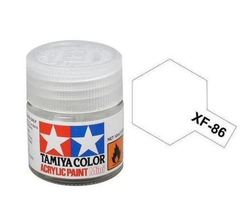 Tamiya XF-86 Flat Clear Acrylic Paint Mini 10ml (1/3oz) TAM81786