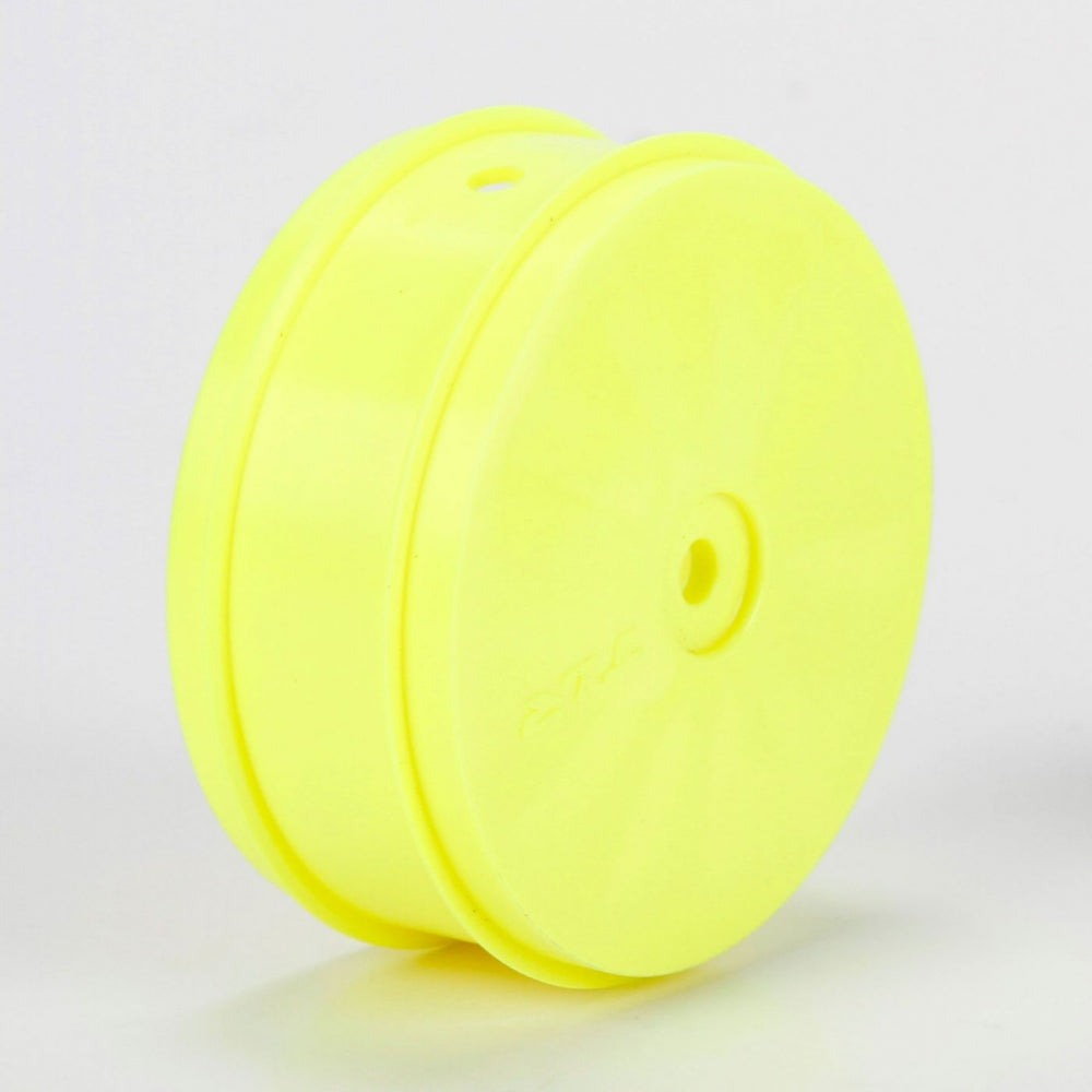 TLR 61mm 4WD Front Buggy Wheels 12mm Hex 61mm Yellow TLR43014