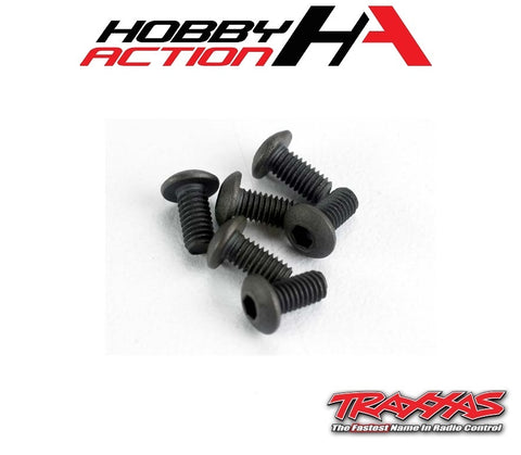 Traxxas (6) 3x6mm Screws Button Head Hex TRA2575
