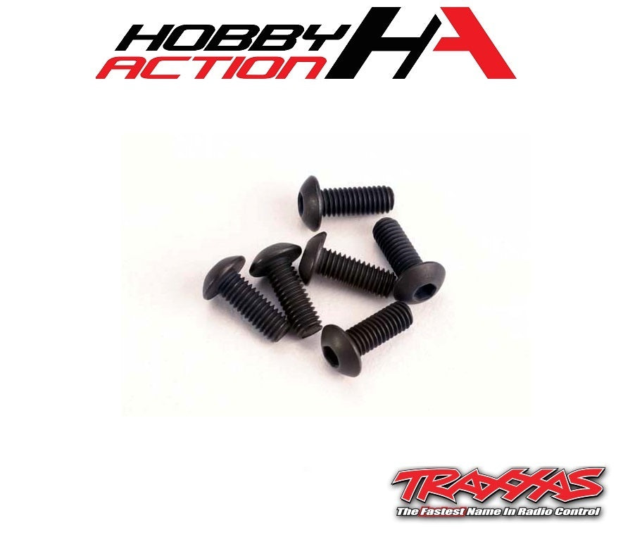 Traxxas (6) 3x8mm Screws Button Head Hex TRA2576