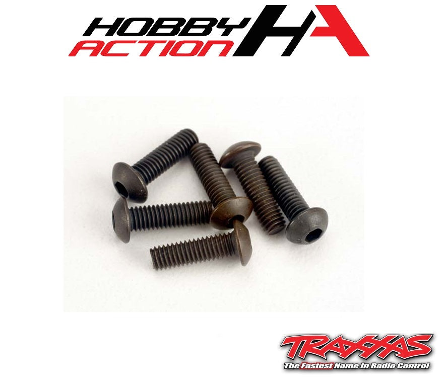 Traxxas (6) 3x10mm Screws Button Head Hex TRA2577