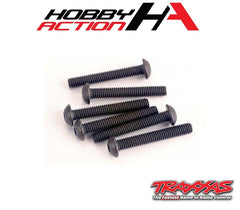 Traxxas (6) 3x20mm Screws Button Head Hex TRA2580