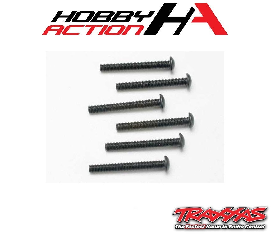 Traxxas (6) 3x25mm Screws Button Head Hex TRA2581