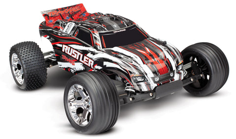 Traxxas Rustler 1/10 Scale 2WD Off-Road Stadium Truck TRA37054-4 RED