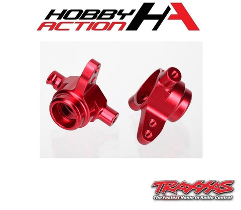 Traxxas Aluminum 4x4 Steering Block Set Red TRA6837R