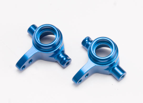 Traxxas Aluminum Steering Block Set Blue TRA6837X