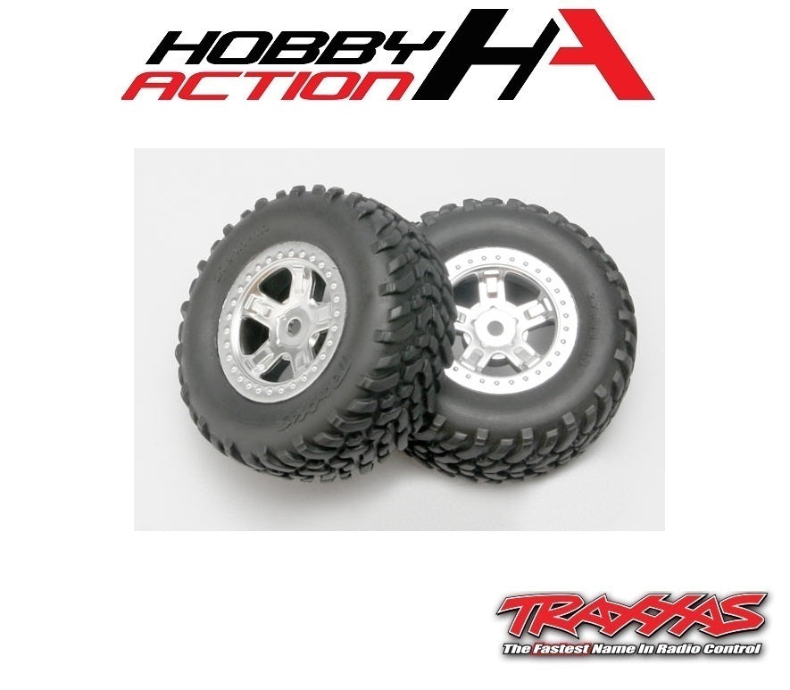 Traxxas 1/16 Slash Pre-Mounted SCT Off-Road Tire TRA7073