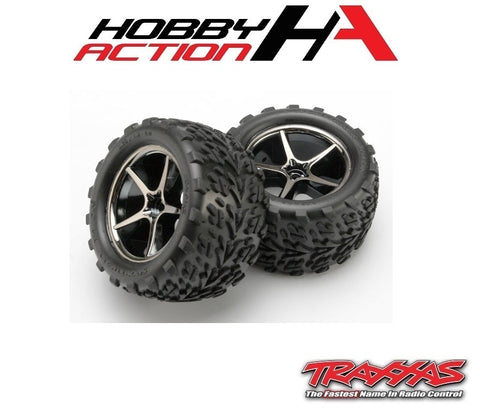 Traxxas 1/16 E-Revo Pre-Mounted Talon Tires Gemini Wheels TRA7174A