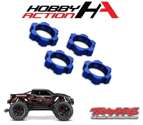 Traxxas X-Maxx 17mm Splined Wheel Nut Blue (4) TRA7758