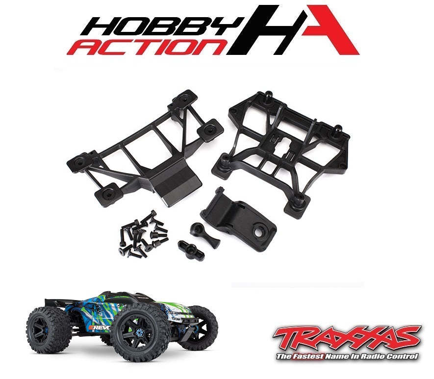 Traxxas E-Revo VXL 2.0 Front & Rear Body Mount Set TRA8615