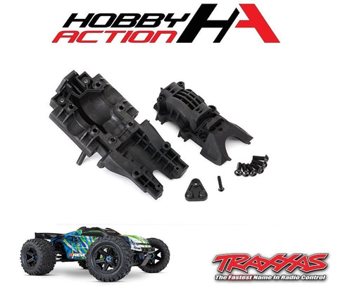 Traxxas E-Revo VXL 2.0 Rear Upper & Lower Bulkhead Set TRA8629