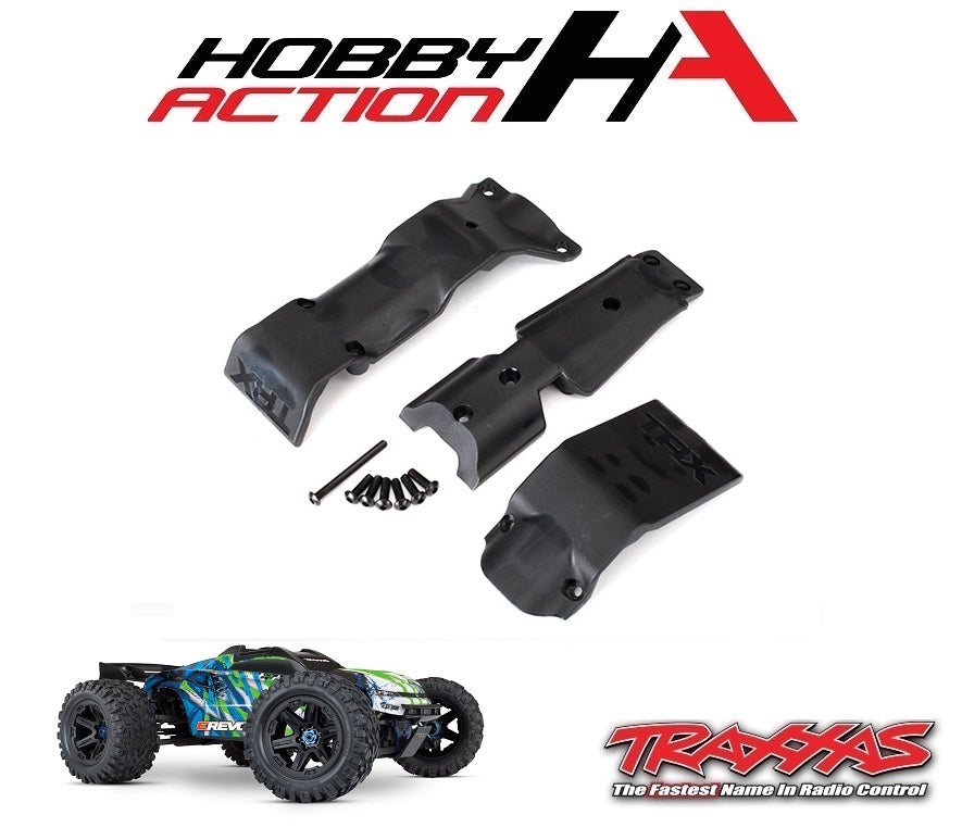 Traxxas E-Revo VXL 2.0 Front and Rear Skid Plate Set TRA8637