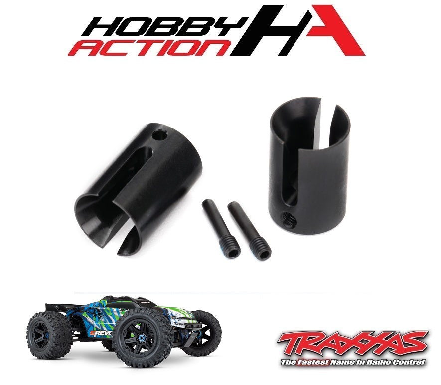 Traxxas E-Revo VXL 2.0 Steel Machined Steel Drive Cup (2) TRA8652