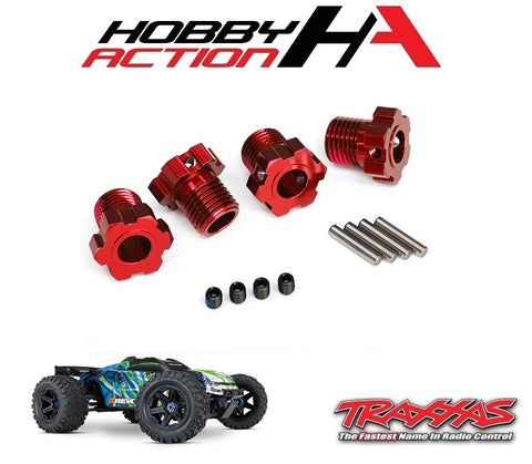 Traxxas E-Revo VXL 2.0 Wheel Hubs Splined 17mm Red-Anodized TRA8654R