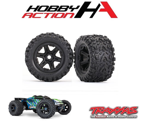 Traxxas E-Revo VXL 2.0 Talon EXT Tires and Wheels TRA8672