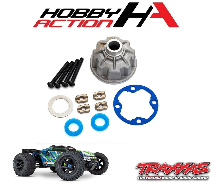 Traxxas E-Revo VXL 2.0 Aluminum Differential Case Carrier Set TRA8681X