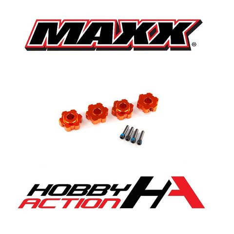 Traxxas MAXX Wheel Hex Aluminum Orange TRA8956T