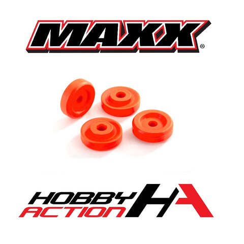 Traxxas MAXX Wheel Washers Orange (4) TRA8957T