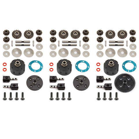 Team Associated RC8B3 V2 Complete Differential Set ASC81361
