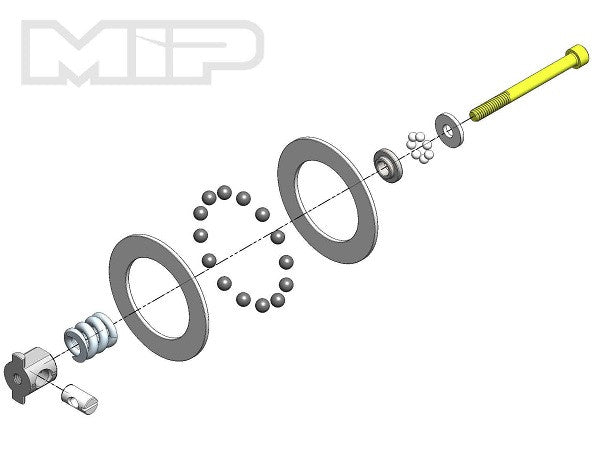 MIP Super Diff Carbide Rebuild Kit TLR 22 Series MIP17065