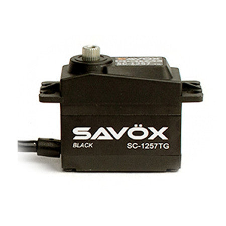 Savox SC-1257TG Black Edition Super Speed Titanium Gear Servo SAVSC1257TG-BE