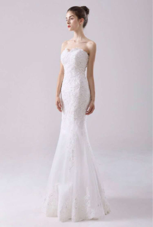Wholesale Wedding Dresses UK, Wholesale Fishtail Slimfit Wedding Dress Plus Size Available UK