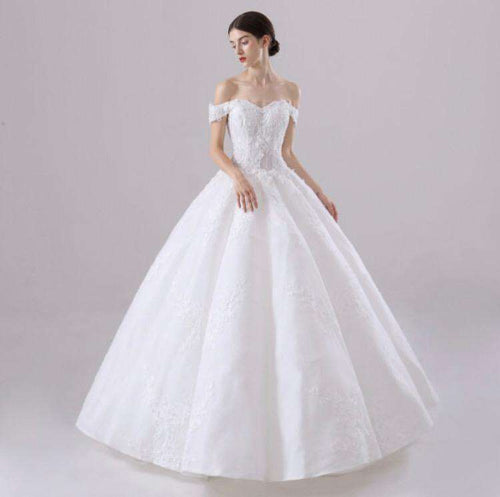 Wholesale Off-Shoulder Puffy Princess Style Wedding Dress Plus Sizes Available UK