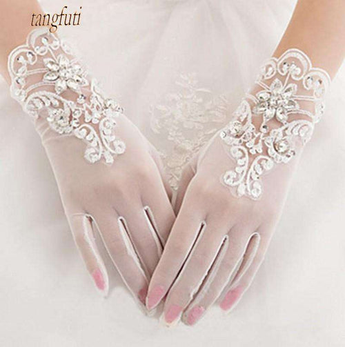 Wholesale Sparkly Short Wedding Gloves UK