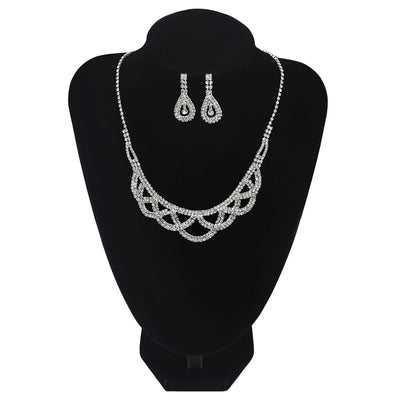 Wholesale Crossover Round Necklace With Earrings UK