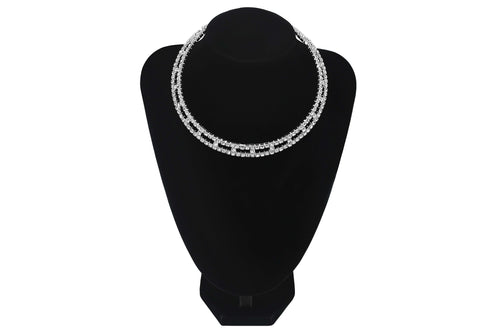 Recutangular Style Cutout Choker Wedding Party Bridesmaids Prom Jewellery - Sahari Collections