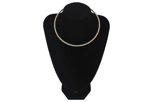 Small Diamante 1 Single Row/Line Choker Wedding Party Bridesmaids Prom Jewellery - Sahari Collections