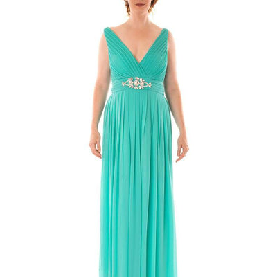 Wholesale Deep V-neck Long Prom and Bridesmaid Dresses UK