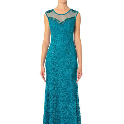Wholesale Long Lace & Diamante Wholesale Prom Bridesmaids Dress UK