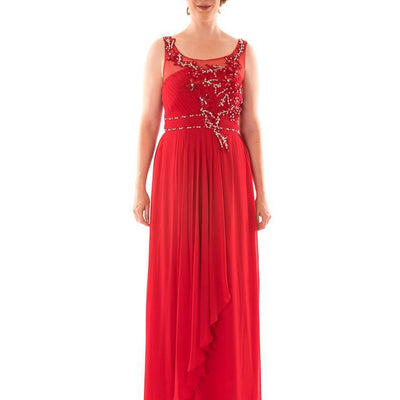 Wholesale Long Wholesale Evening Dress With Diamante and Mesh Top UK