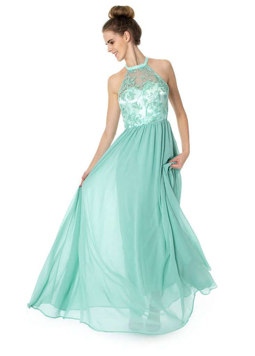 Wholesale Long Halterneck Floral Dress Prom Bridesmaids UK