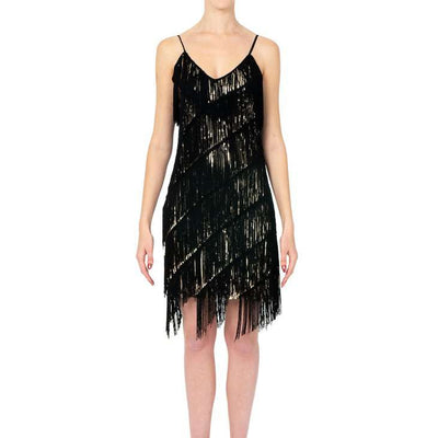 Wholesale Short Dress With Sequince And Tassels UK