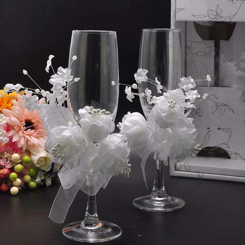 New Wedding Toasting Flutes Champagne Glasses Champagne Flutes Wedding Decoration Wedding Supplies
