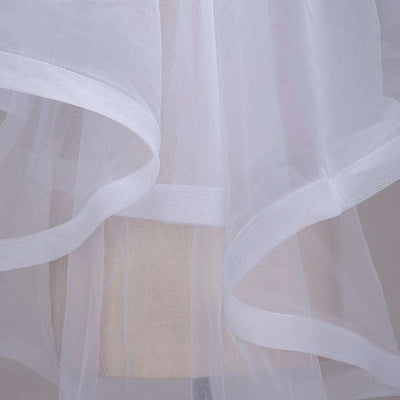 1.5M Ribbon Edge Two Layer Wedding Veil with Comb White Ivory Tulle Bridal Veil Velo de Novia Cheap Wedding Accessories