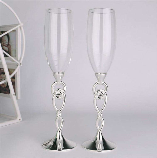Toasting flutes Champagne flutes Champagne glasses wedding Wedding decoration Goblet