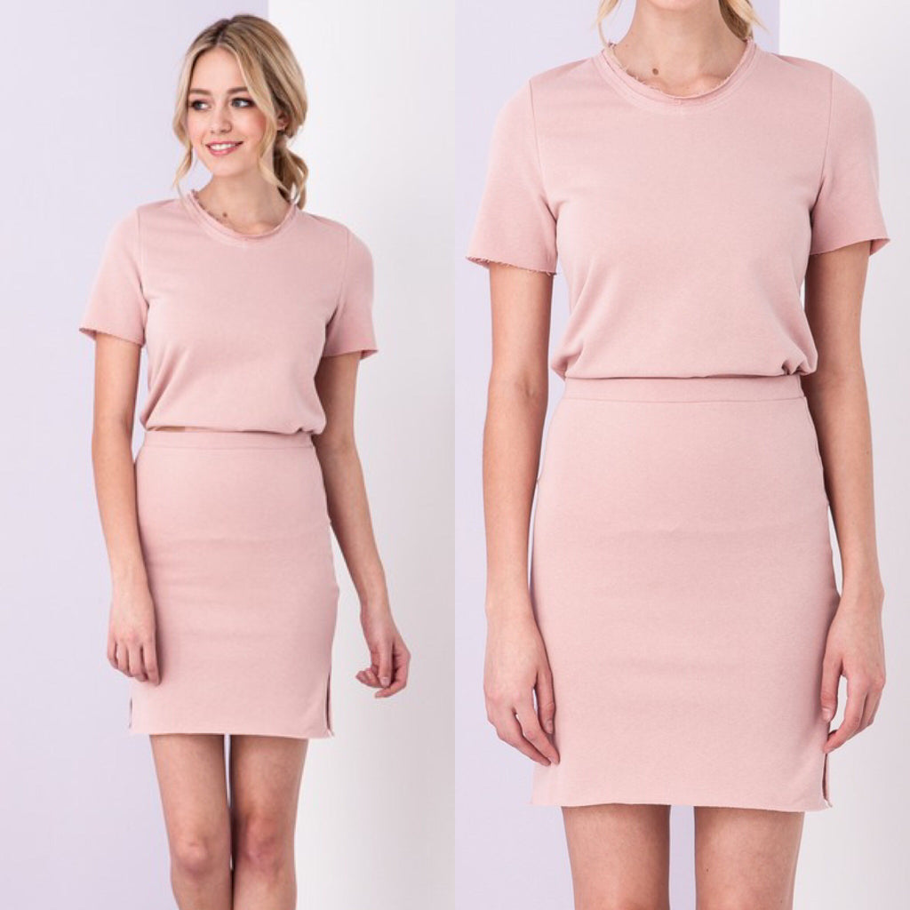 Run the Town Terry Set - Blush Pink
