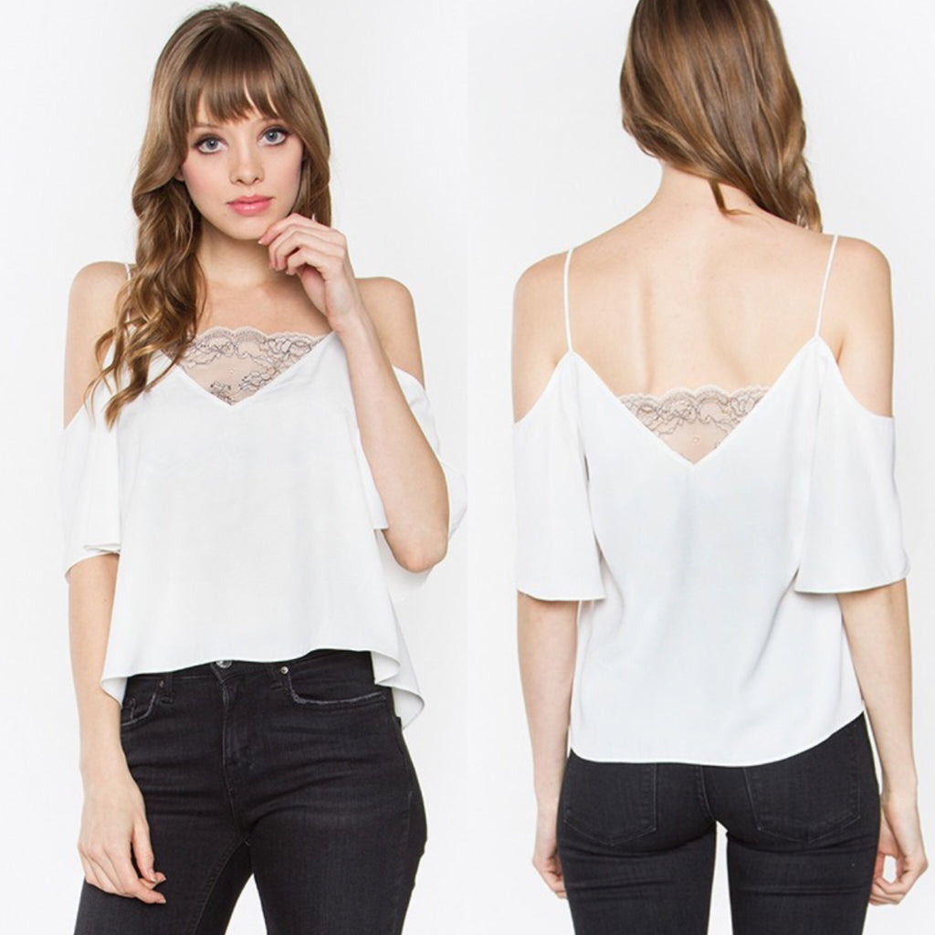Date Night Cold Shoulder Top