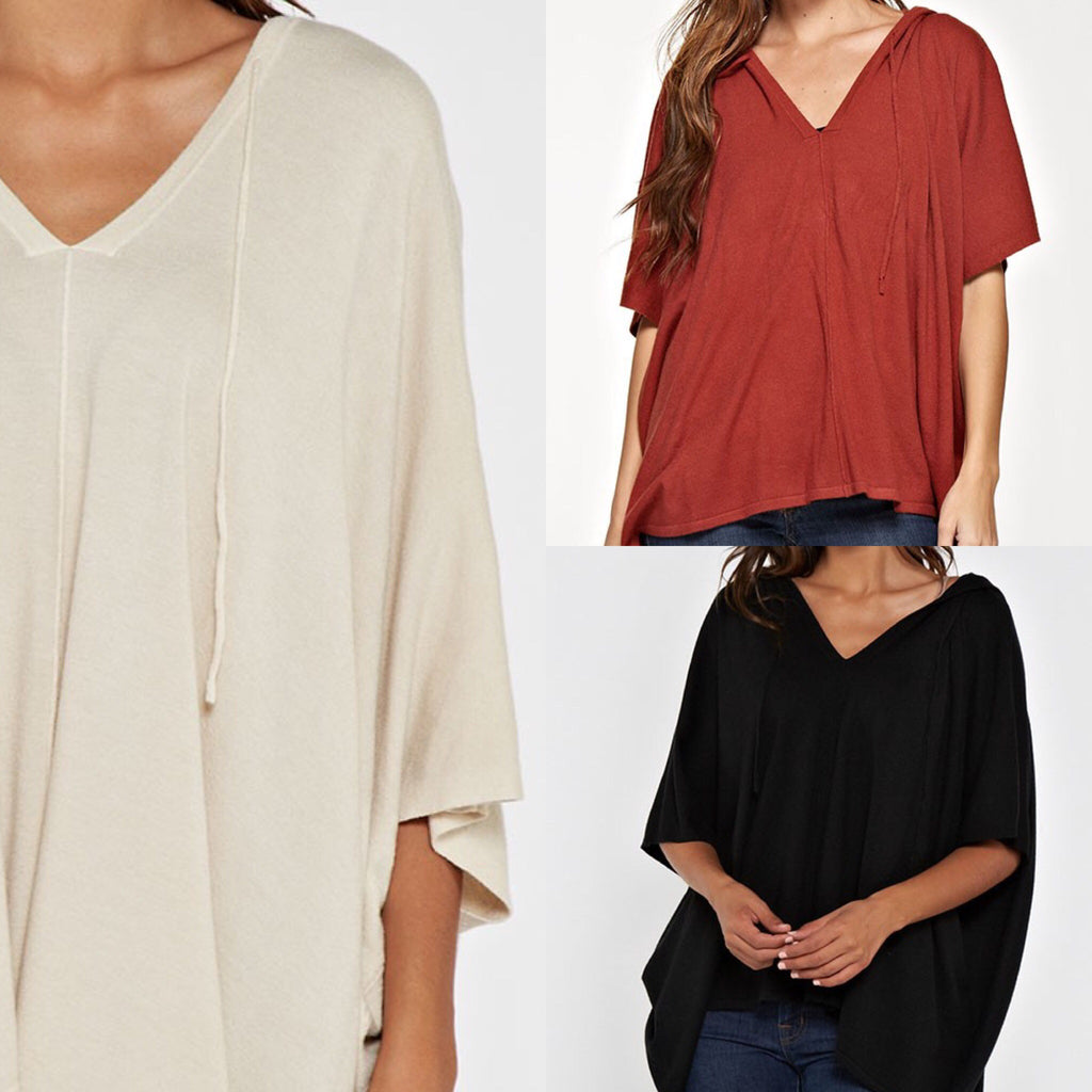 Basically Butter Poncho - 2 Colors