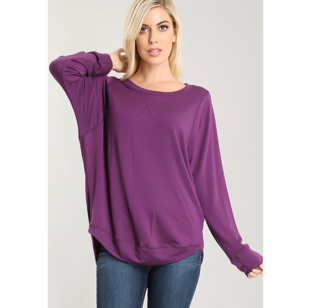 Varsity Lightweight Sweatshirt - Grape