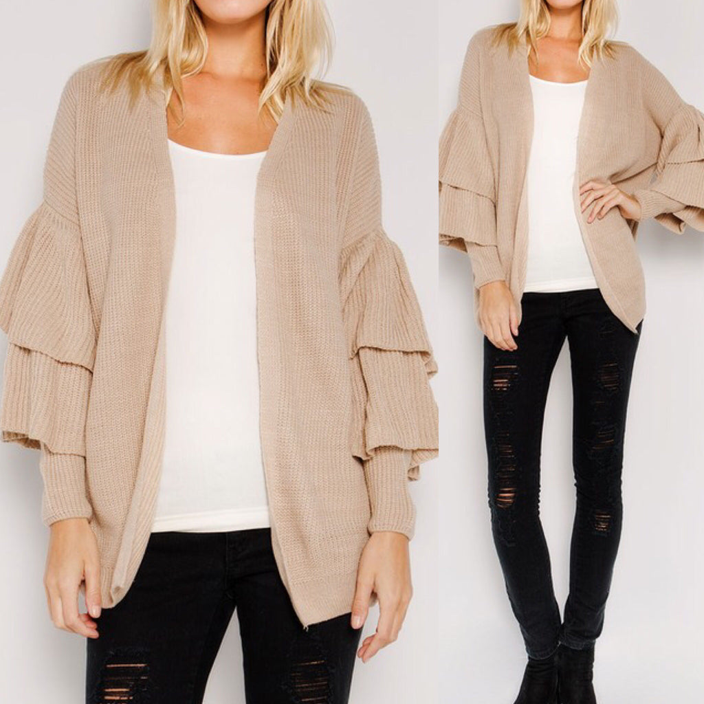 Make a Statement Sleeve Cardigan - 3 Colors