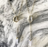 Eliza Slip Druzy Necklace