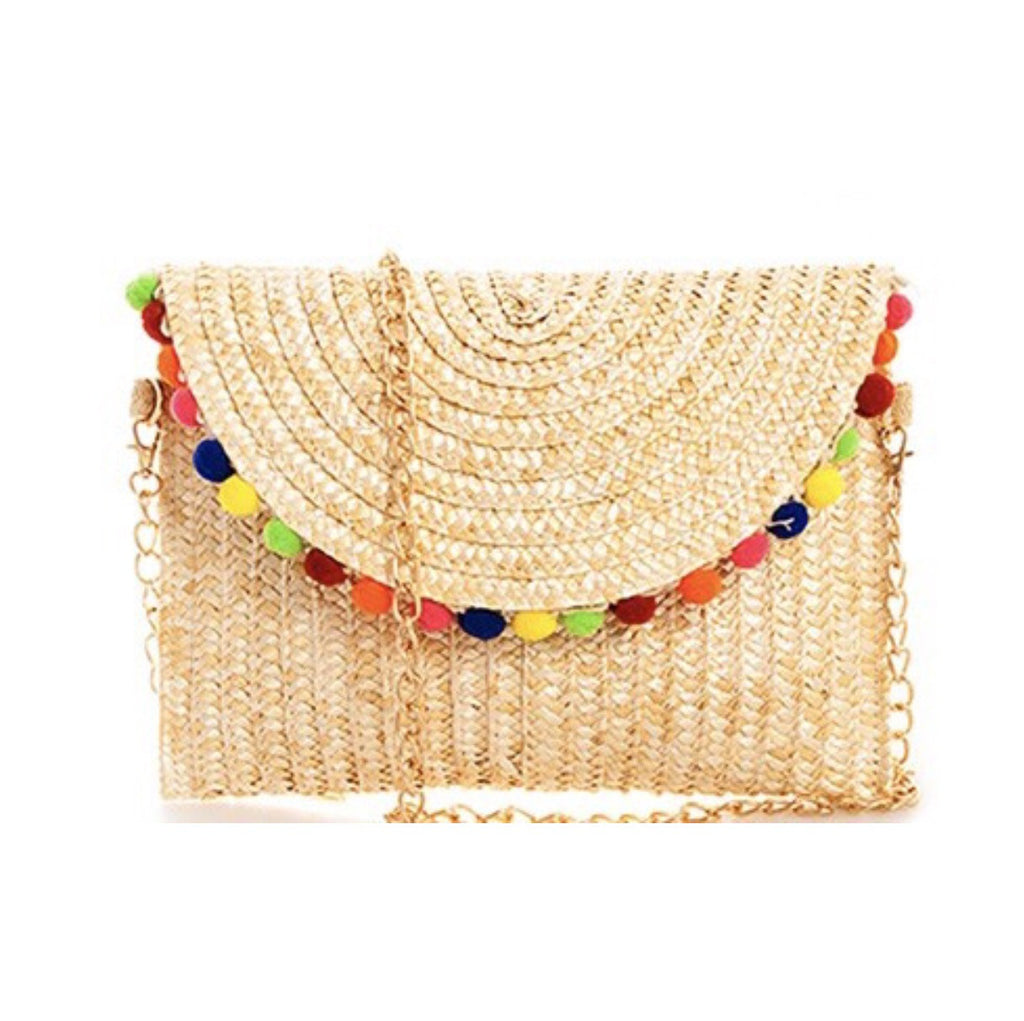 Palm Beach Pom Pom Clutch/Crossbody